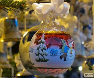 Puzle Skleněná koule vánoční ozdoby