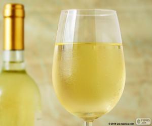 Puzle Sklenka bílého vína