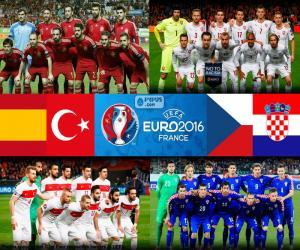 Puzle Skupina D, Euro 2016