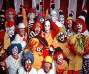 Puzle Skupina klaunů
