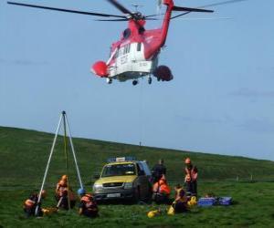 Puzle Skupina pozemní a letecké záchranné vozidlo