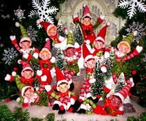 Puzle Skupina vánoční elfů
