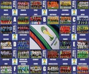 Puzle Skupiny Brazílie 2014