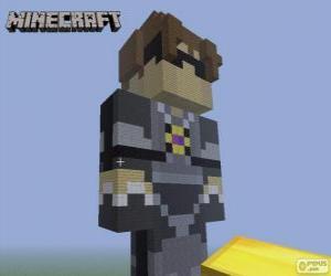 Puzle Sky z Sky Army. Minecraft