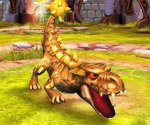 Puzle Skylander Bash, impozantní dinosaura. Země Skylanders