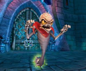 Puzle Skylander Ghost Roaster, stvoření, které jí zlé duchy. Oživlý mrtvý Skylanders
