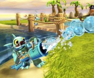 Puzle Skylander Gill Grunt, tvor, který nikdy nenechá uniknout své kořisti. Voda Skylanders