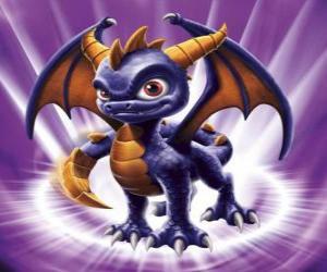Puzle Skylander Spyro, drak je impozantní protivník, který může létat a střílet oheň z úst. Kouzelná Skylanders