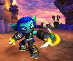 Puzle Skylander Stealth Elf, bojovníka ninja. Život Skylanders