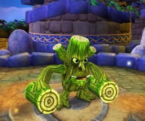Puzle Skylander Stump Smash, kladivo tvor má dřevěné polena místo zbraní. Skylanders život