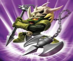 Puzle Skylander Voodood, statečný bojovník. Kouzelná Skylanders