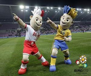 Puzle Slávku a Slavko - UEFA Euro 2012 -