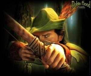 Puzle Slavný lukostřelec Robin Hood