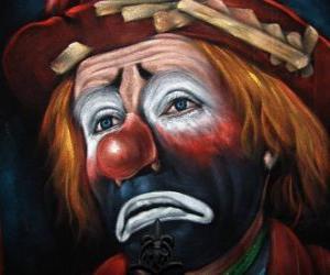 Puzle Smutný klaun tvář