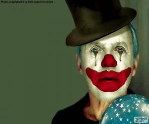 Puzle Smutný klaun