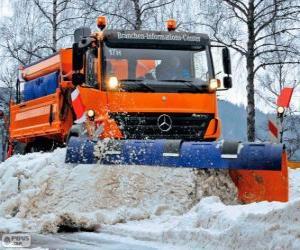 Puzle Sněžný pluh náklaďák