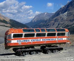 Puzle Sněhová autobus