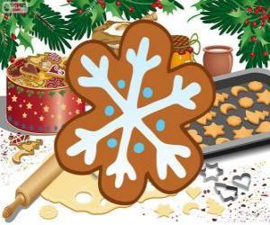 Puzle Sněhová vločka biscuit