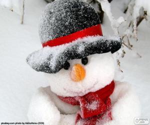 Puzle Sněhulák s šálou