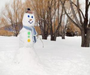 Puzle Sněhulák