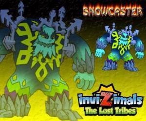 Puzle Snowcaster. Invizimals The Lost Tribes. Nejvyšší Pán ledu, mystické a silné šalvěj, která žije v ledovcích