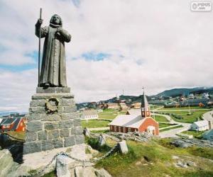 Puzle Socha Hanse Egedem, Nuuk, Grónsko