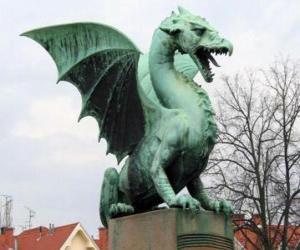 Puzle Socha okřídleného draka
