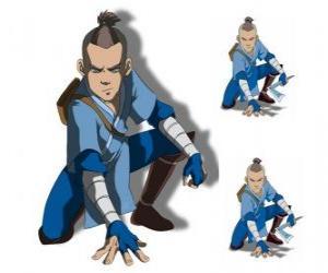 Puzle Sokka je 15 let starý válečník z jižní Vodní Tribe, který jde s Aang