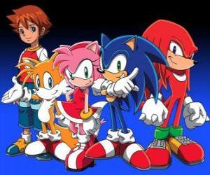 Puzle Sonic a další postavy z videohry Sonic