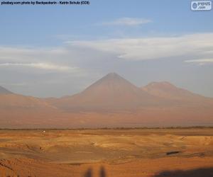Puzle Sopky v provincii Atacama, Chile