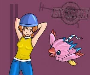 Puzle Sora hraje s ní Digimon Biyomon. Sora Takenouchi je nejvíce zodpovědný a zralý skupiny