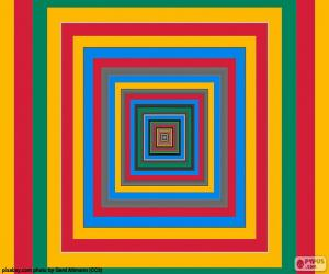 Puzle Soustředné čtverce