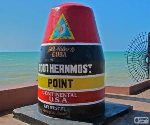 Puzle Southernmost Point (nejjižnější), Key West, Florida, Spojené státy americké
