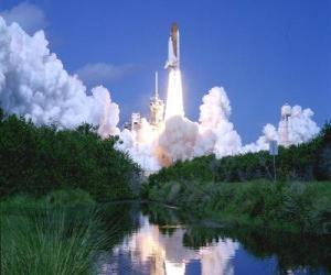 Puzle Space Shuttle při zahájení