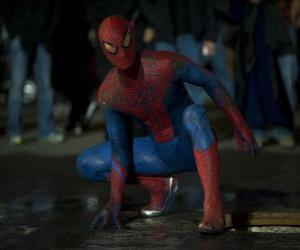 Puzle Spider-man v ulicích New Yorku