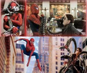 Puzle Spiderman boj proti darebák Doktor Octopus, jeden z jeho největších nepřátel