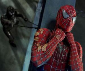 Puzle Spiderman chycen v Venom