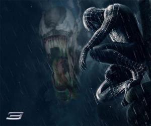 Puzle Spiderman Venom sdílí s mnoho z jeho síly a schopnosti