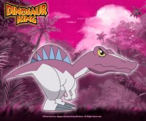 Puzle Spiny, Spino. Spinosaurus dinosaura, vlastněný Zander z Alfa Gang
