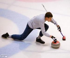 Puzle Sportovec curling
