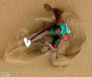 Puzle Sportovec cvičit skok do dálky