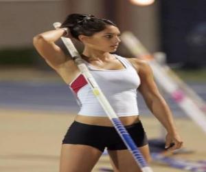 Puzle Sportovec se připravují na tyči