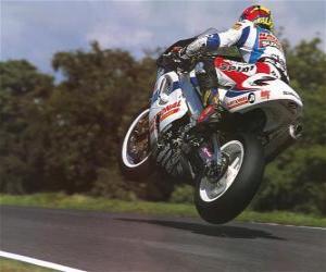 Puzle Sportovní motocykl soutěže