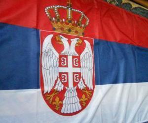 Puzle Srbská vlajka