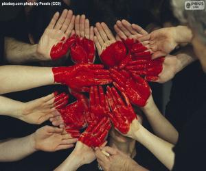 Puzle Srdce v rukou