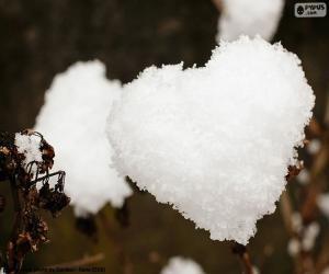 Puzle Srdce ze sněhu