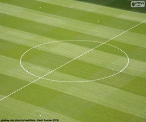 Puzle Středový kruh fotbalové hřiště
