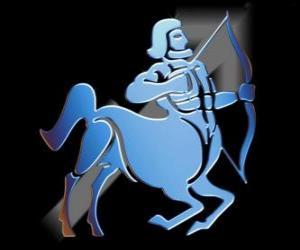Puzle Střelec. Centaur, lukostřelec. Deváté znamení zvěrokruhu. Latinský název je Sagittarius