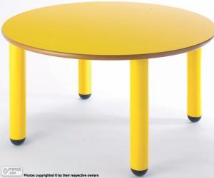 Puzle Stůl kulatý a žluté