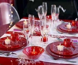 Puzle Stůl připravené pro Štědrý den